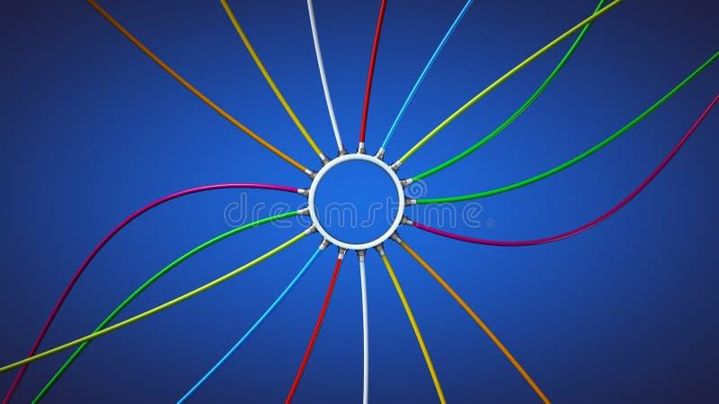 电缆接线 库存例证