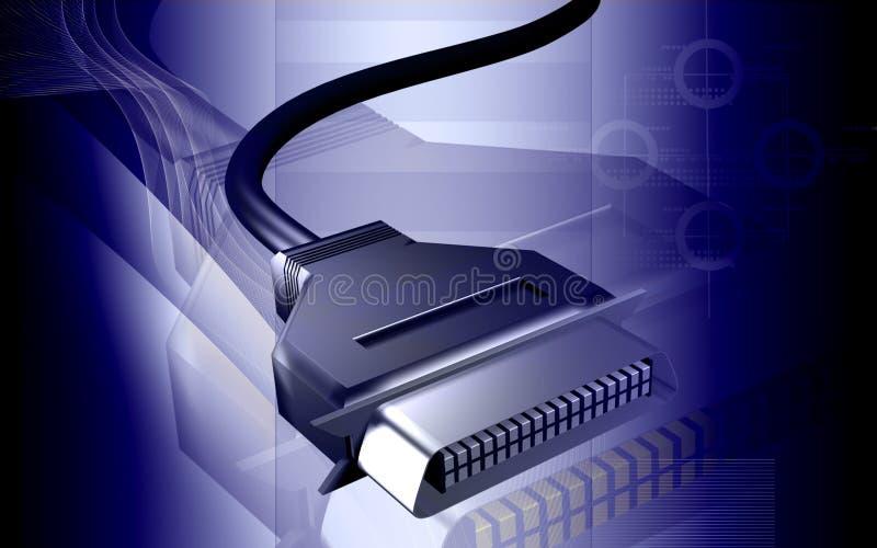 电缆数据 皇族释放例证