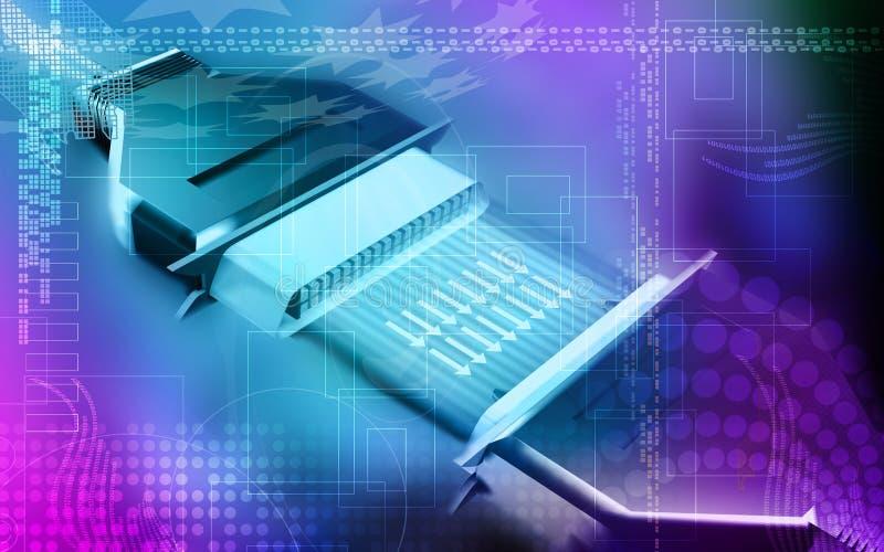电缆数据 库存例证