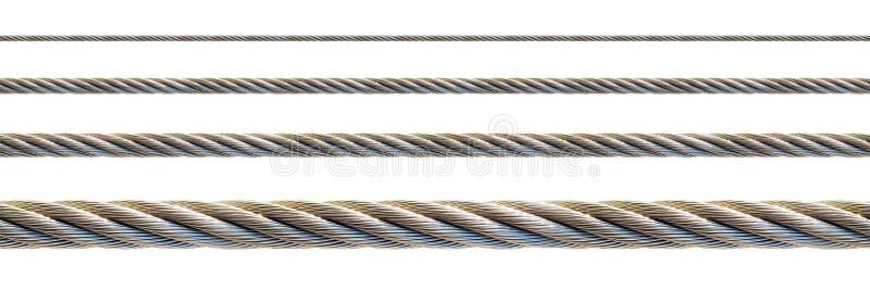 电缆无缝的钢 免版税库存图片