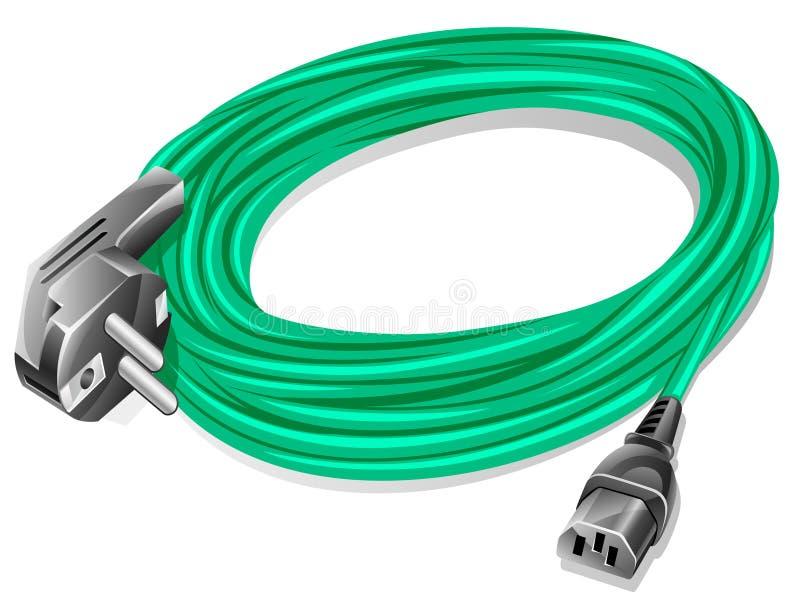 电缆次幂 库存例证