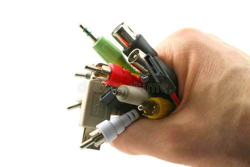 电缆现有量 免版税库存照片