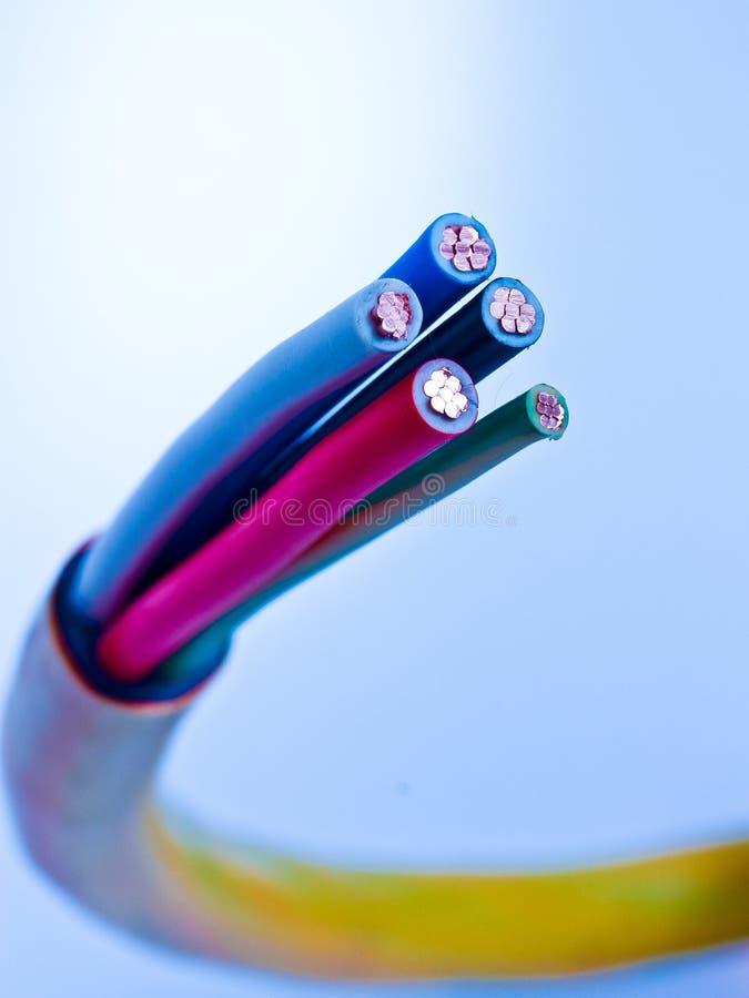 电缆电力高第三阶段电压 免版税图库摄影