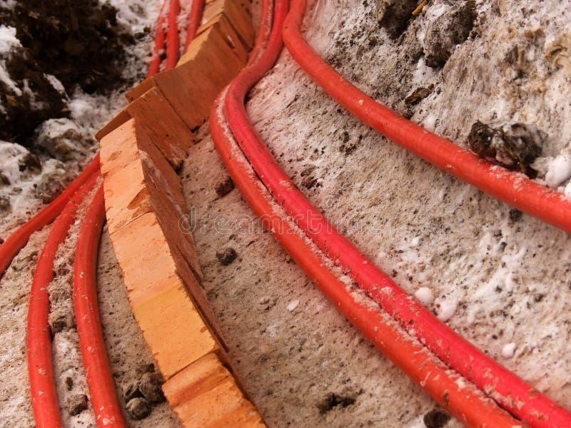 电缆电电汇 免版税库存图片