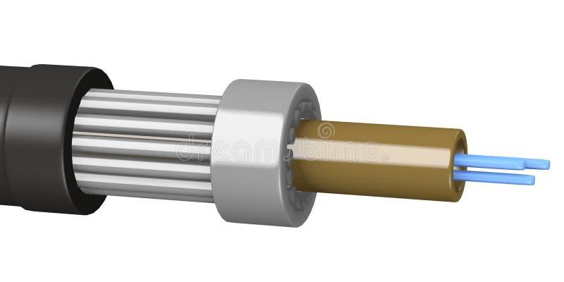 电缆电电汇 向量例证