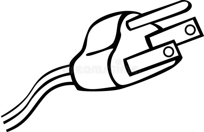 电缆绳子地面例证插件次幂向量 向量例证