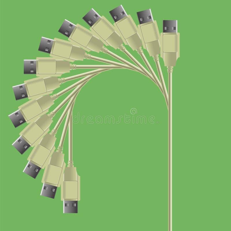 电缆装置 向量例证