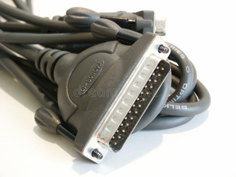 电缆计算机打印机 库存图片