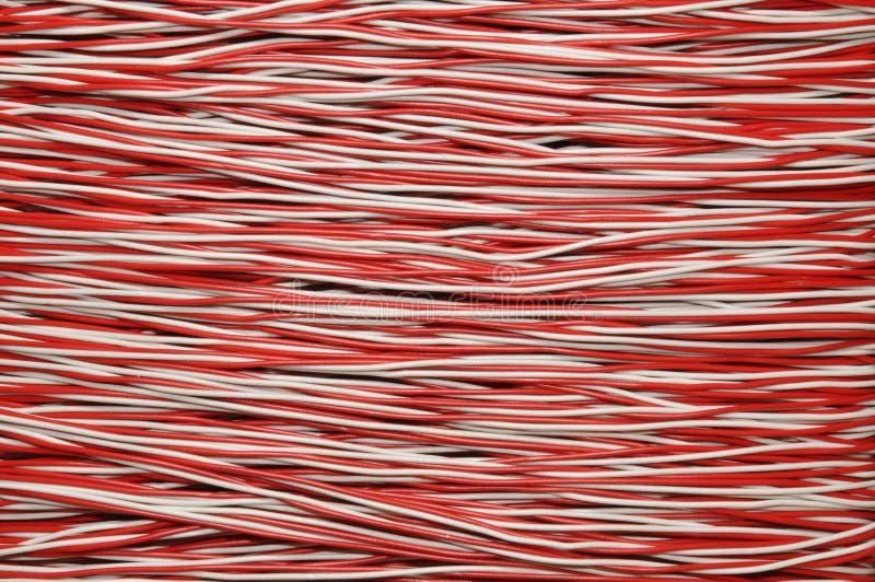 电缆铜红色白色 免版税库存图片