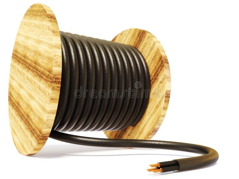 电缆 皇族释放例证