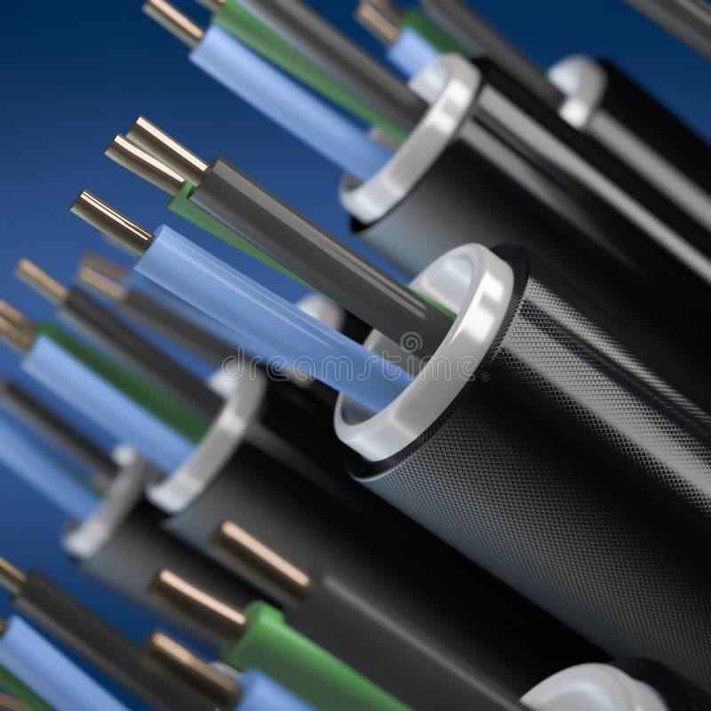 电缆 向量例证