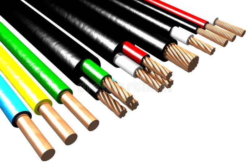电缆(3D) 库存例证