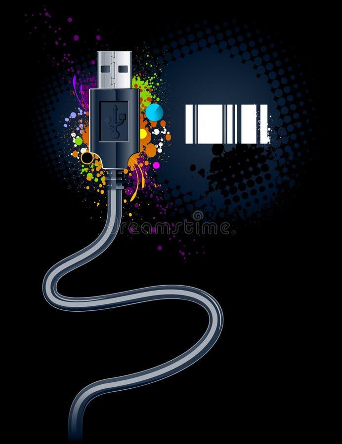 电缆usb 向量例证