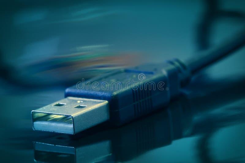 电缆usb 库存照片