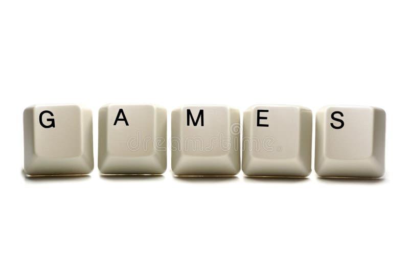 电脑游戏关键字 免版税库存图片