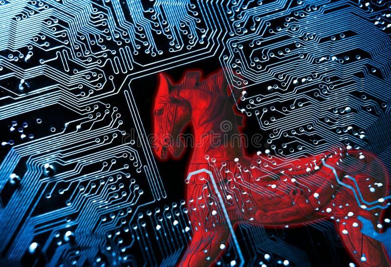 电脑程式内的病毒病毒 皇族释放例证