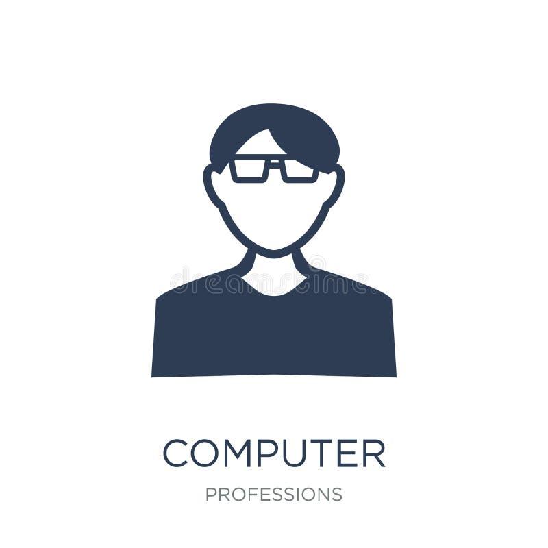 电脑系统系统分析员象 时髦平的向量计算机Syste 库存例证
