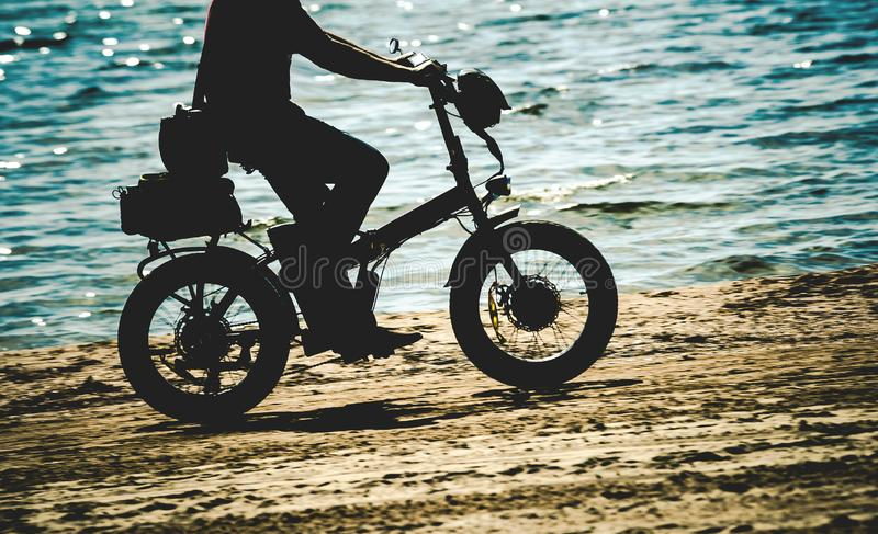 电自行车 免版税库存照片