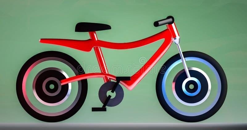 电自行车3d例证 免版税库存照片