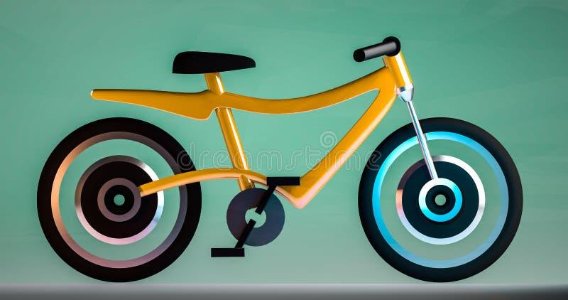 电自行车3d例证 库存照片