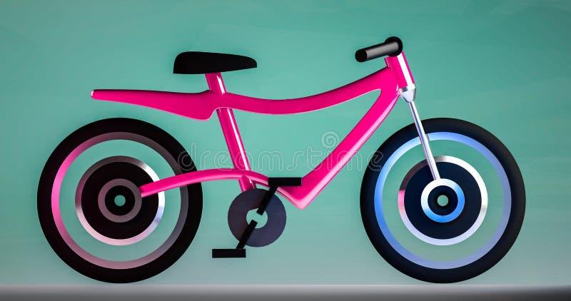 电自行车3d例证 图库摄影