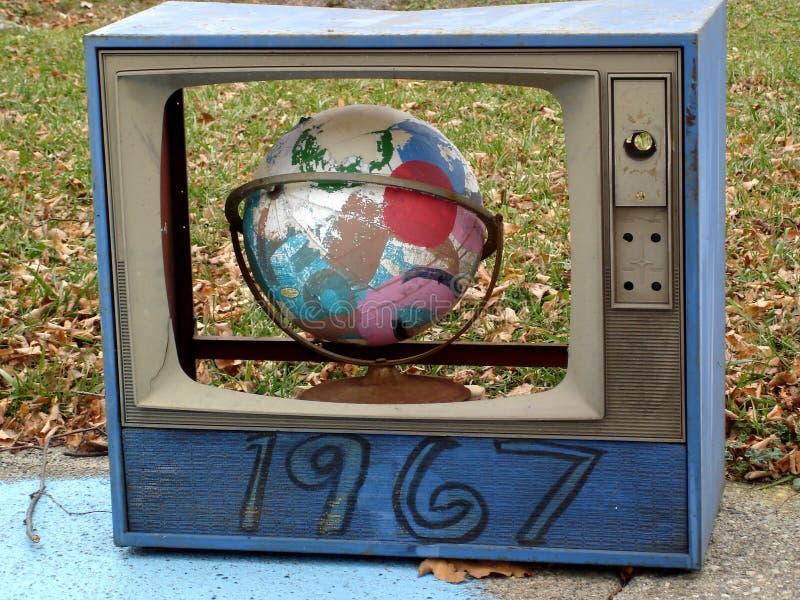 电视世界 库存照片