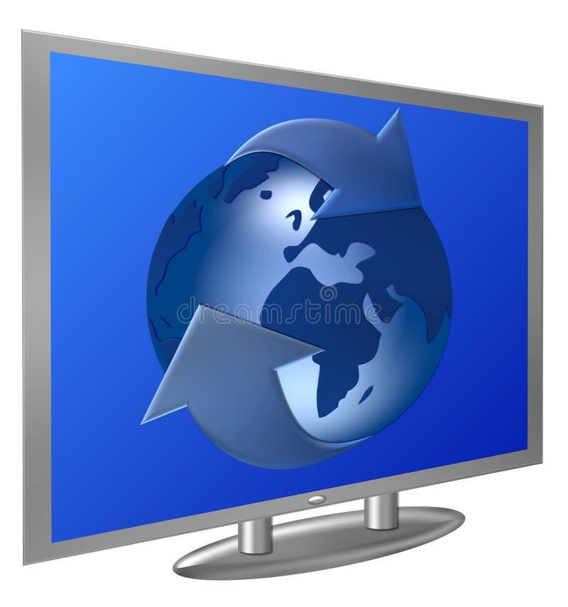 电视世界 库存例证
