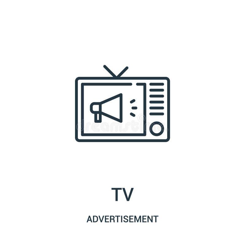 电视从广告汇集的象传染媒介 稀薄的线电视概述象传染媒介例证 皇族释放例证