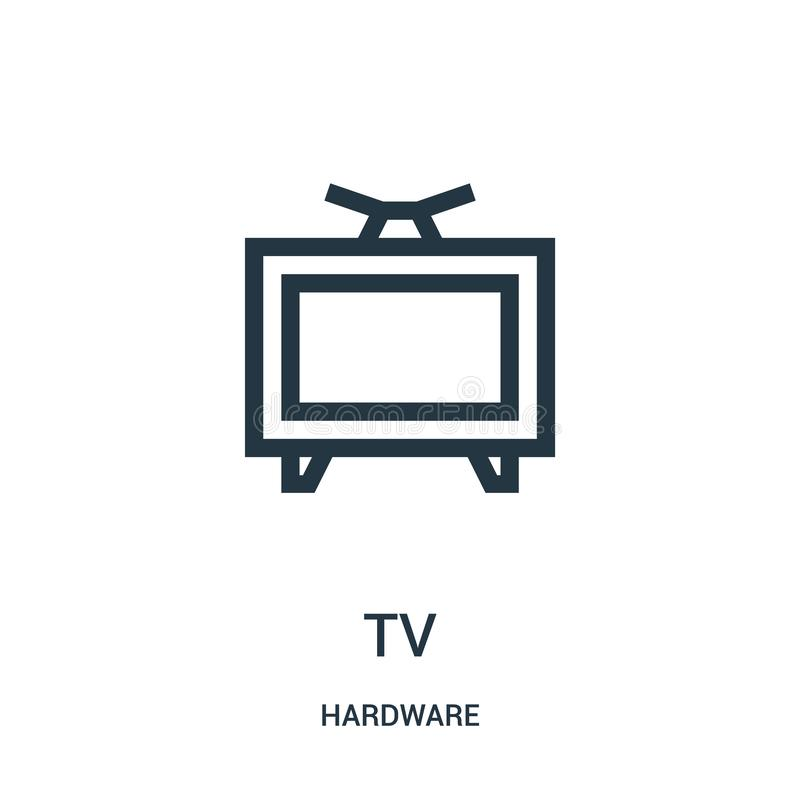 电视从硬件汇集的象传染媒介 稀薄的线电视概述象传染媒介例证 皇族释放例证