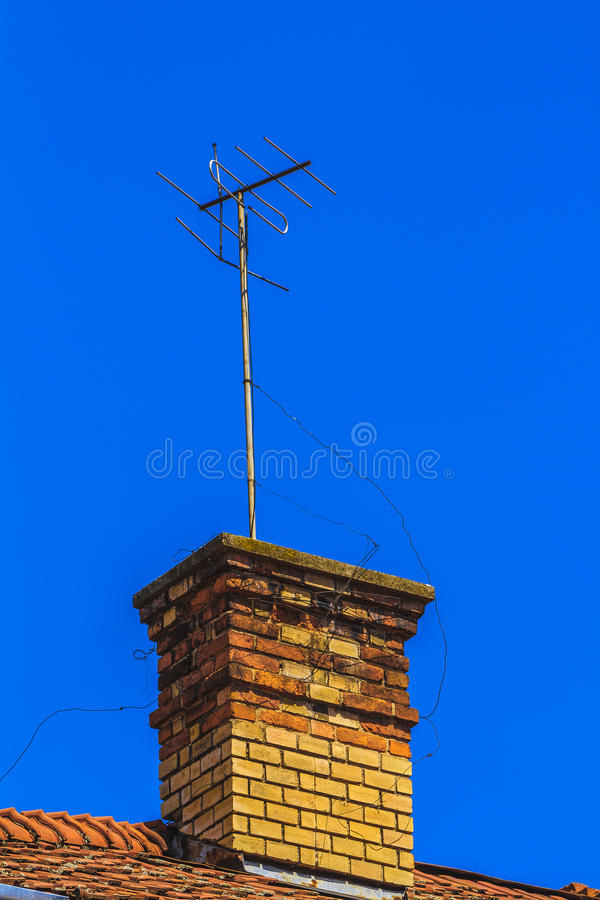 电视和单选antena 库存图片