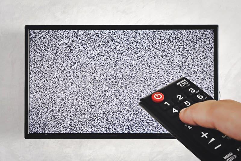 电视和遥控 库存照片
