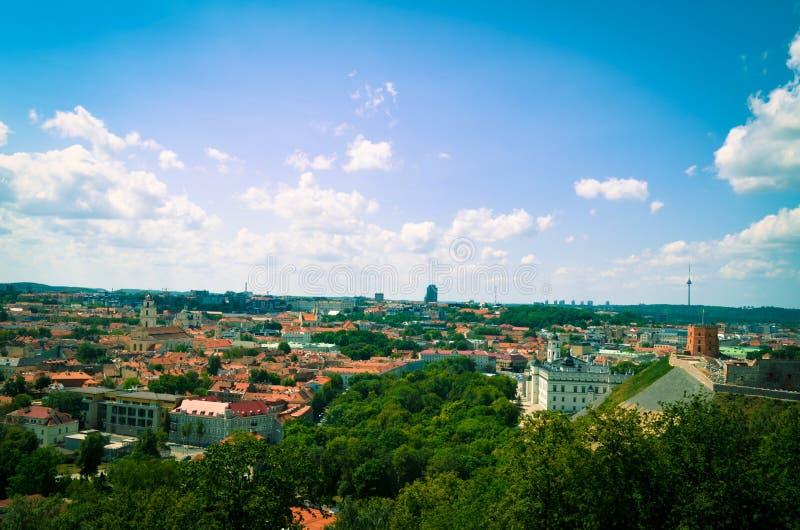 电视塔和格季米纳斯城堡 库存图片