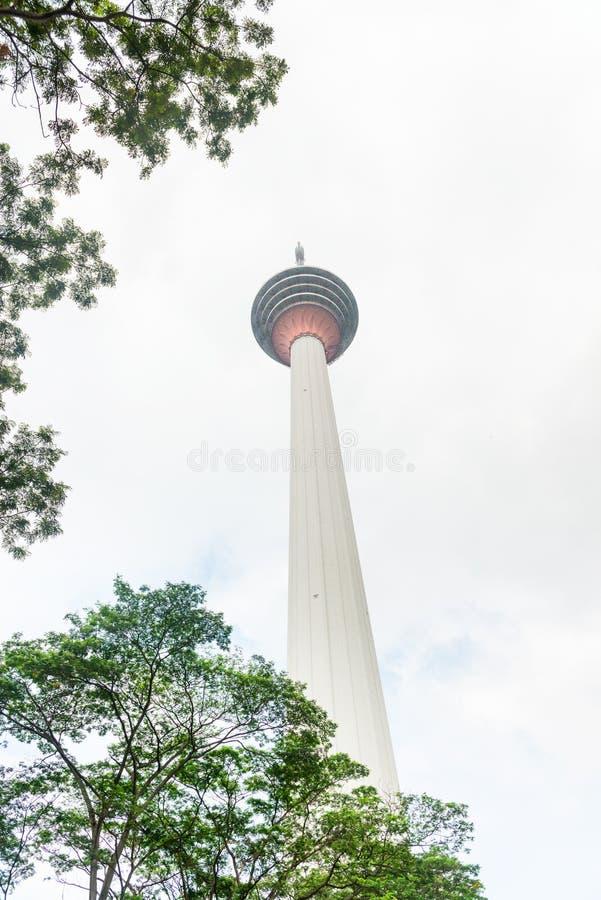 电视塔在吉隆坡,马来西亚 免版税库存照片