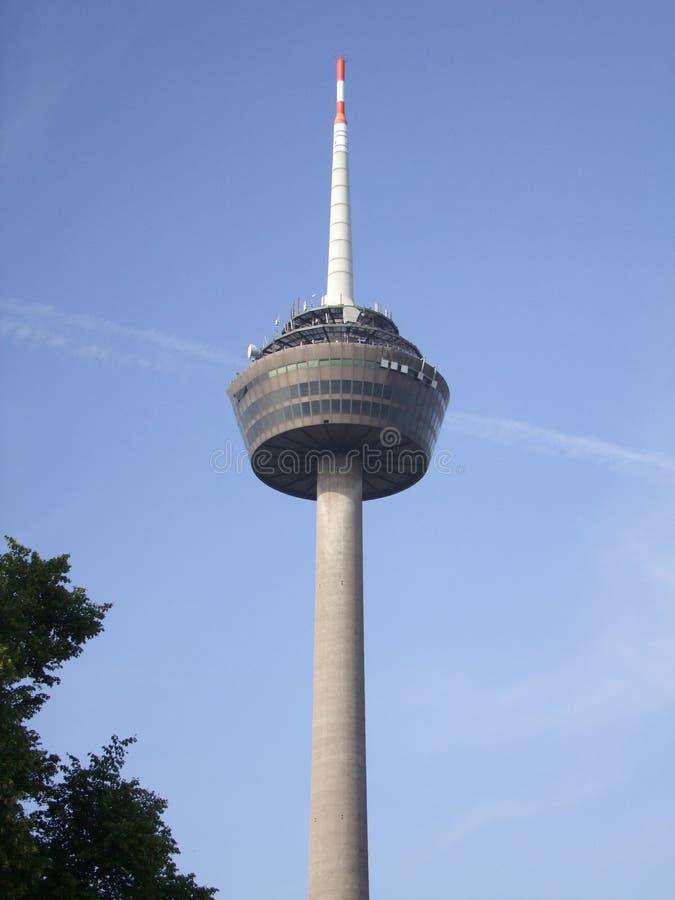 电视塔在科隆。德国 库存照片
