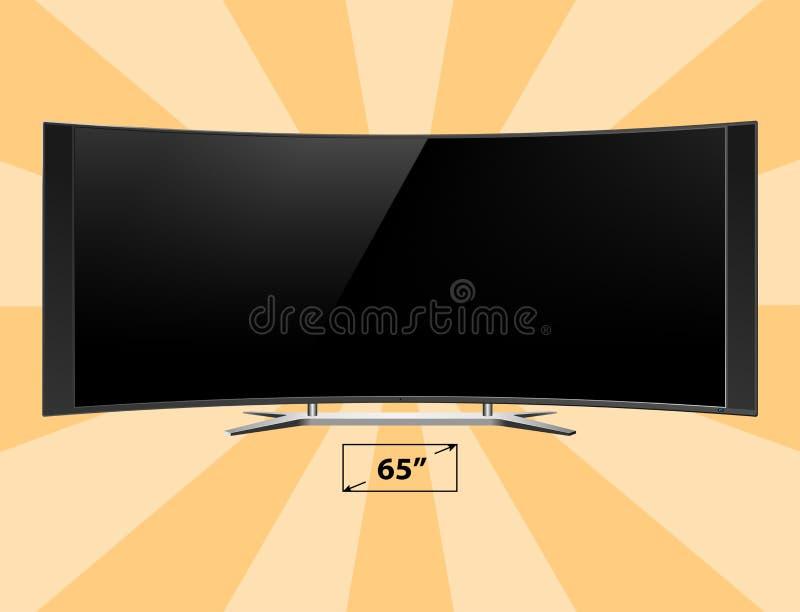 电视屏幕lcd显示器模板电子设备技术数字式设备显示传染媒介例证 向量例证
