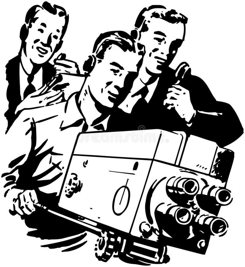 电视工作人员 向量例证