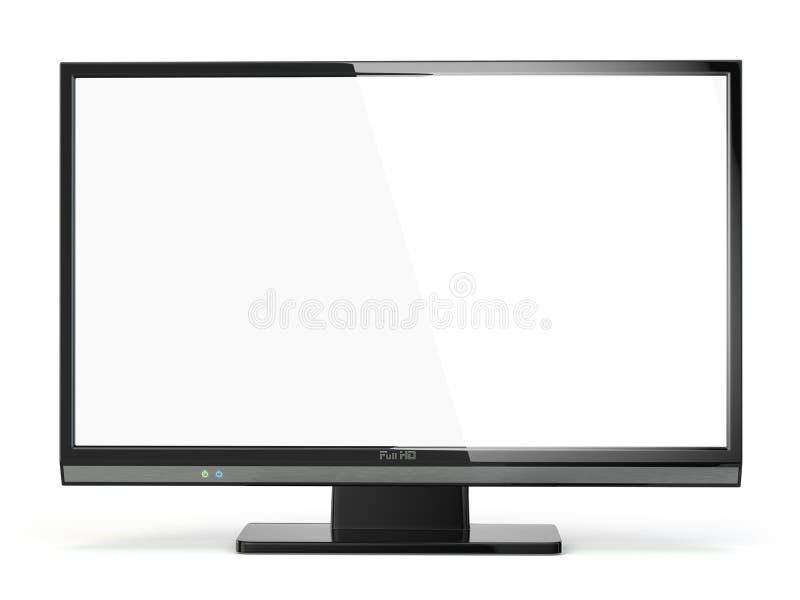 电视平面屏幕lcd或等离子 数字式广播电视 向量例证