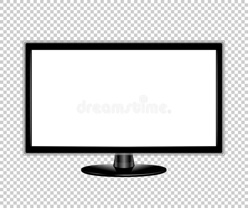 电视平面屏幕lcd显示器现实传染媒介例证 皇族释放例证