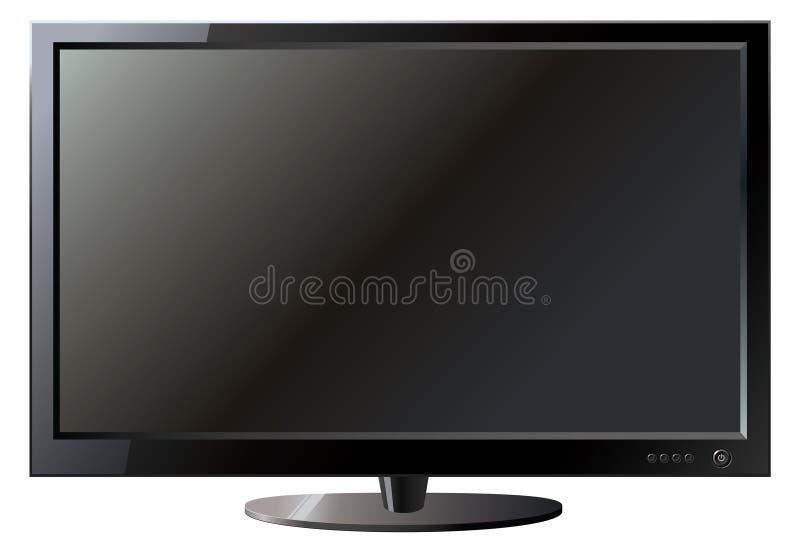 电视平面屏幕lcd 皇族释放例证