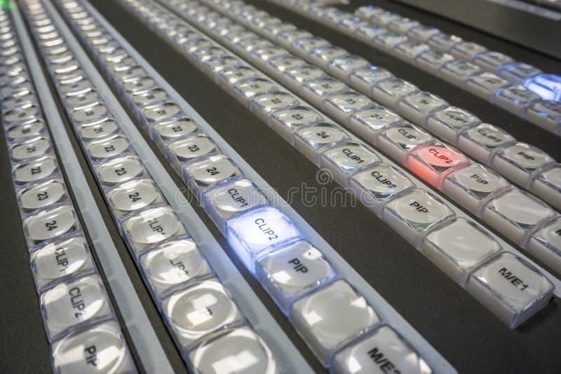 电视广播录影生产调转工  免版税库存图片