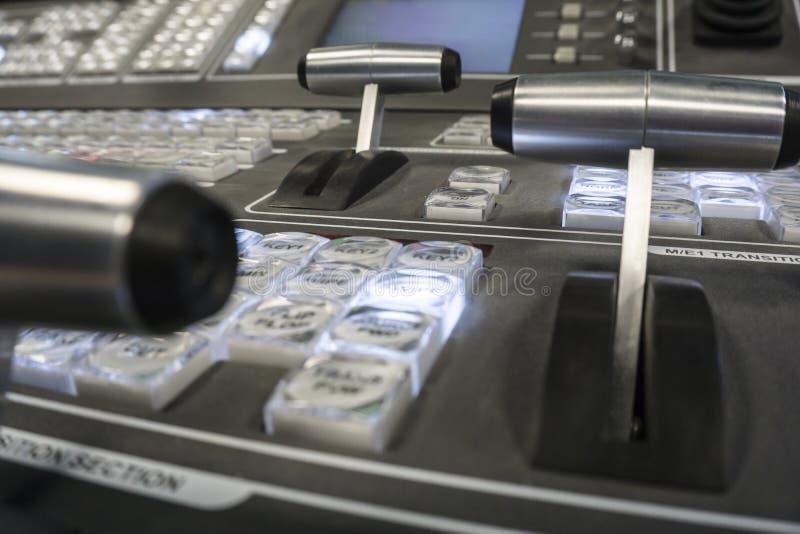 电视广播录影生产调转工  免版税图库摄影