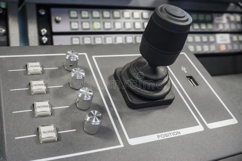 电视广播录影生产调转工  库存照片