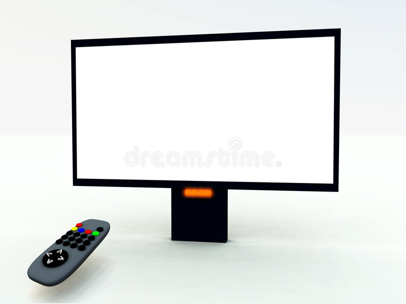 电视控制和电视6 库存例证