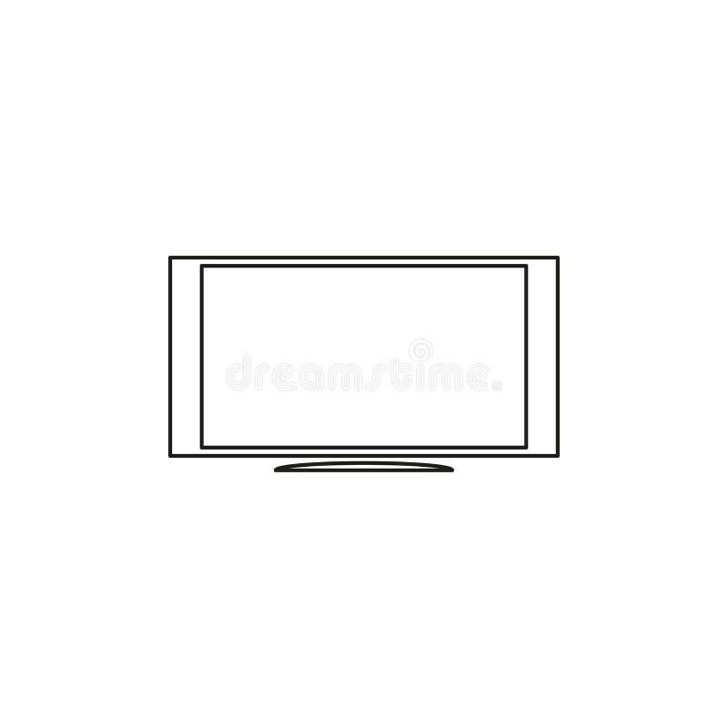 电视显示器象 向量例证