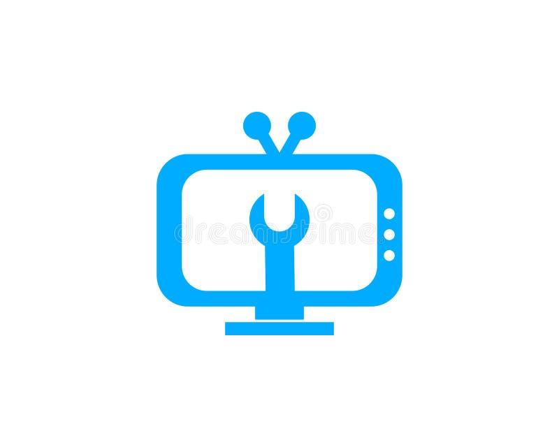 电视服务商标模板设计传染媒介 库存例证
