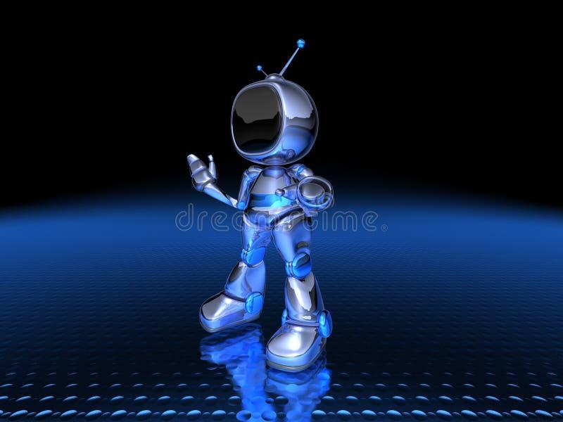 电视机器人 免费库存图片