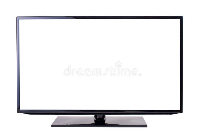 电视机,查出在空白背景 免版税库存图片