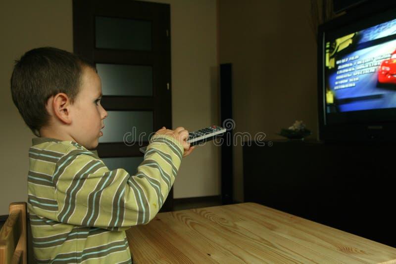 电视注意 库存照片