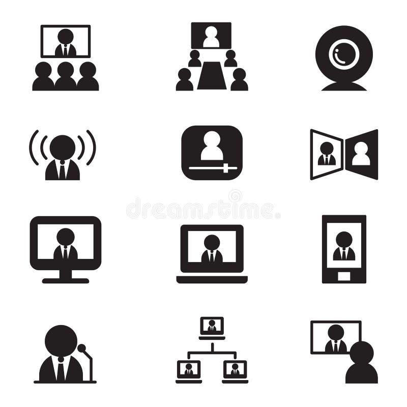 电视电话会议通信(会议、研讨会,训练) vect 向量例证