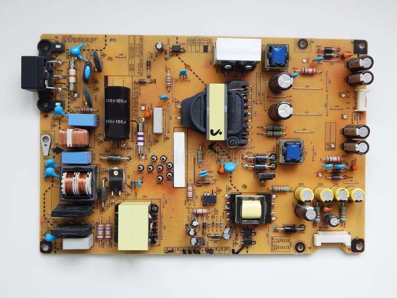 电视的电子板 免版税库存照片